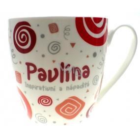 Nekupto Twister hrnček s menom Pavlína červený 0,4 litra