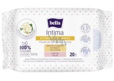 Bella Intima Extrakt z bielych kvetov bavlnenej vlhčené obrúsky na intímnu hygienu 20 kusov