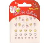 Absolute Cosmetics Nail Art samolepící nálepky na nehty 3DG001S 1 aršík