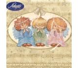 Nekupto Papierové obrúsky vianočné anjeli 3 vrstvové 33 x 33 cm 20 kusov