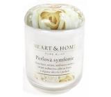 Heart & Home Perlová symfonie Sojová vonná svíčka střední hoří až 30 hodin 110 g