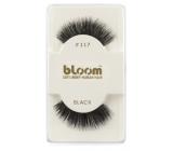 Bloom Natural nalepovací řasy z přírodních vlasů obloučkové černé č. 117 1 pár