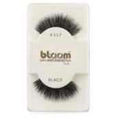 Bloom Natural nalepovacie riasy z prírodných vlasov obloučkové čiernej č. 117 1 pár