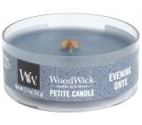 Woodwick Evening Onyx - Večerné ónyx vonná sviečka s dreveným knôtom petite 31 g