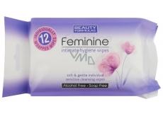 Beauty Formulas Feminine vlhčené obrúsky na intímnu hygienu 12 kusov