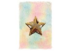 Albi Blok chlpatý Hviezda 16 cm x 22 cm