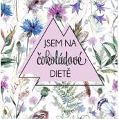 Albi Dárková mléčná čokoláda čtvercová Jsem na čokoládové dietě 75 g
