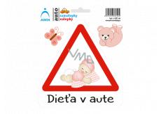 Arch Autosamolepka Dieťa v aute - batoľa dievčatko SK 15 x 17,5 cm