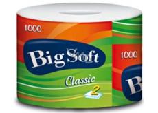 Big Soft Classic toaletný papier rôzne farby 2 vrstvový 1000 útržkov 1 kus