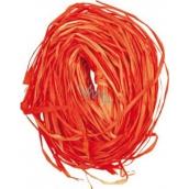 Raffia oranžová nafarbené lyko na dekoráciu 30 g