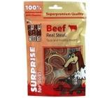 Huhubamboo Pravý hovädzí steak prírodná mäsová pochúťka pre psov 75 g