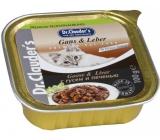 Dr. Clauders Husa s pečeňovou omáčkou s kúskami mäsa kompletné krmivo pre mačky 100 g
