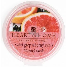 Heart & Home Svieža grep a čierne ríbezle Sójový prírodný voňavý vosk 27 g
