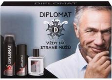 Astrid Diplomat Classic voda po holení pre mužov 100 ml + pena na holenie 250 ml + dezodorant sprej 150 ml, kozmetická sada