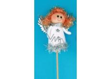 Anjel figúrka biela zápich 8 cm + špajle