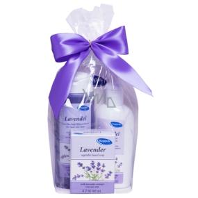 Kappus Levanduľa 2v1 sprchový telový šampón 250 ml + telové mlieko 250 ml + tuhé mydlo 125 g, kozmetická sada
