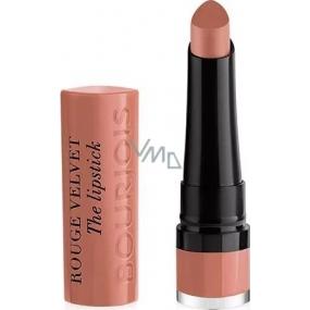 Bourjois Rouge Velvet The Lipstick rtěnka 01 Hey Nude 2,4 g