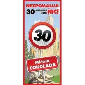 Bohemia Gifts & Cosmetics Mliečna čokoláda Všetko najlepšie 30, darčeková 100 g