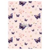 Ditipo Baliaci papier ružový, s motýlikmi 100 x 70 cm 2 kusy
