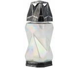 LAMPA sklenená veľká 32cm 7D hranatá 1232
