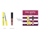 Miss Sporty Studio Lash 3D Volumythic riasenka 001 Black 8 ml + Matte to Last 24h Lip Cream tekutý rúž 200 Lively Rose 3,7 ml, kozmetická sada
