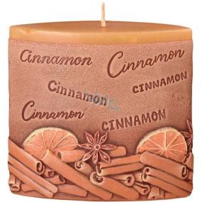 Emóciám Škorica Cinnamon vonná sviečka elipsa 110 x 45 x 110 mm