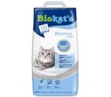 Biokats Bianco Classic Stelivo pre mačky silne hrudkujúce podstielka bielej farby 10 kg