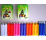 Romantické svetlo Vianočné sviečky krabička horenia 90 minút modré 12 kusov