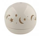 Svietnik porcelánový, guľa hviezdna obloha 9,5 cm