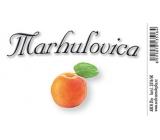 Arch Samolepka Marhulovica veľká etiketa 8,5 x 5,5 cm SK