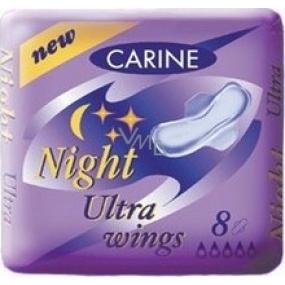 Carine Ultra Wings Night intímne vložky 8 kusov