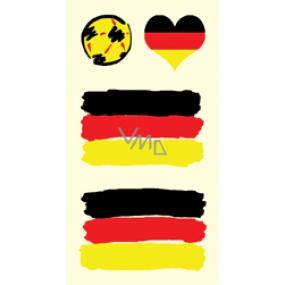 Arch Tetovací obtisky na obličej i tělo Německá vlajka 1 motiv
