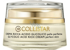 Collistar Attivi Puri Glycolic Acid Rich Cream pleťový krém s kyselinou glykolovou 50 ml