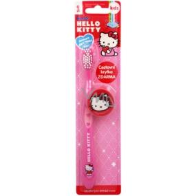 Hello Kitty Soft zubná kefka s krytkou