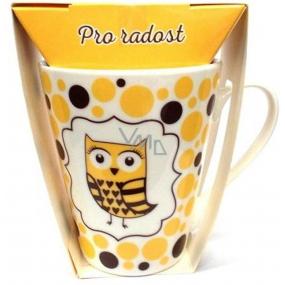 Albi Dobroty Darčeková sada hrnček a horúca mliečna čokoláda Pre radosť žltý 300 ml