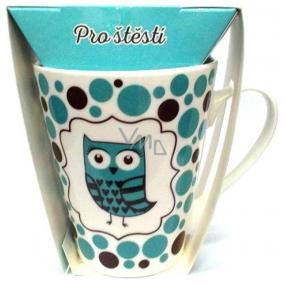 Albi Dobroty Darčeková sada hrnček a sypaný čaj bez ibišteka, aromatizovaný Pre šťastie modrý 300 ml