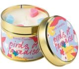 Bomb Cosmetics Ptáci ráje Vonná přírodní, ručně vyrobena svíčka v plechové dóze hoří až 35 hodin