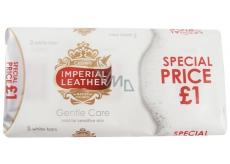 Cussons Imperial Leather Gentle Care tuhé toaletní mýdlo 3 x 100 g