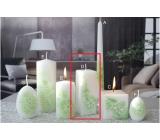 Lima Kvetinová sviečka zelená hranol 45 x 120 mm 1 kus