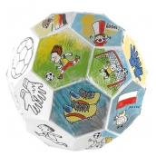 Monu Skladacia futbalová lopta skladačka k vymaľovanie pre deti 5+ výška: 78,5 cm