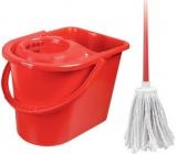 Spokar Úklidová souprava Cotton oválná, kbelík 14 l, ždímač, hůl, bavlněný mop 100 g