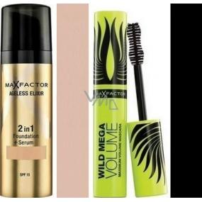 Max Factor Ageless Elixir make-up 2v1 50 Natural 30 ml + Wild Mega Volume řasenka černá 11 ml