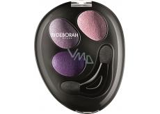 Deborah Trio Hi-Tech Eyeshadow oční stíny 04 Purple Deluxe 4,2 g