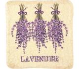 Bohemia Gifts & Cosmetics Lavender zavesená maľovaná dekoratívny Kachlík 10 x 10 cm