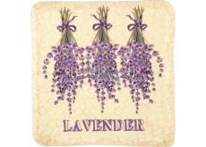 Bohemia Gifts Lavender zavesená maľovaná dekoratívny Kachlík 10 x 10 cm