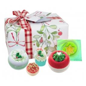 Bomb Cosmetics Vánoční přání balistik 2x160 g + špalíček 50 g + kulička 30 g + mýdlo 100 g, kosmetická sada