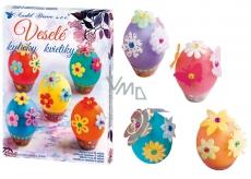 Dekorovanie vajíčok Veselé kytičky sada