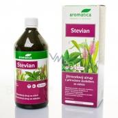Aromatica Jitrocelový sirup Stevian se sladidlem z rostliny stévie posiluje horní cesty dýchací usnadňuje vykašlávání 210 ml