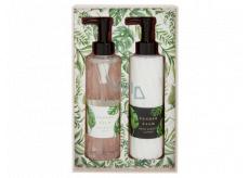 Heathcote & Ivory Tender Palm umývací gél 200 ml + telové mlieko 200 ml, kozmetická sada