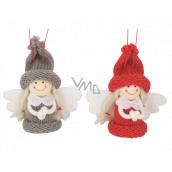 Anjel v pletené čiapku 7,5 cm na zavesenie 1 kus